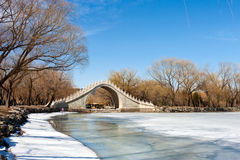 The Jade Belt Bridge in Beijing,China Royalty Free Stock Photography