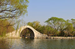 Jade belt bridge of Summer palace Stock Photos