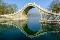 Jade belt bridge. The jade belt bridge of Summer Palace under the morning sunshine Stock Images