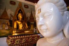 Jade blanc Bouddha Photos libres de droits