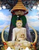 Jade blanco buddha Fotos de archivo