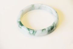 The jade bracelet Stock Photography