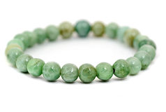 Jade bracelet isolated on white Royalty Free Stock Photo