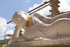 Jade branco buddha Imagens de Stock