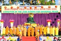 Jade buddha. Exhibition of the jade Buddha for universal peace at Tampa Florida Royalty Free Stock Photo