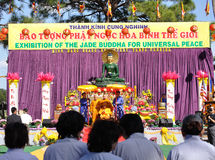 Jade buddha Stock Photography