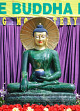 Jade buddha. Exhibition of the jade Buddha for universal peace in Tampa Florida temple Royalty Free Stock Images
