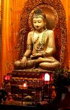 The Buddha worshipped by people is always so kind.The Jade Buddha Temple in Shanghai, China stock photo