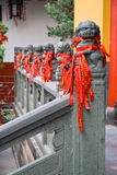 Jade Buddha temple. Chinese prayer ribbons hanging at Jade Buddha temple in Shanghai Royalty Free Stock Photography