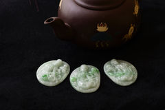 Jade carving pendant Stock Photo