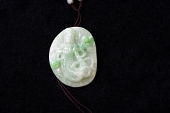 Jade carving pendant Stock Photography