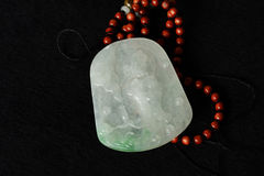 Jade carving pendant Stock Photos