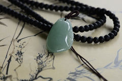 Jade carving pendant Royalty Free Stock Image