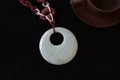 Jade carving pendant Royalty Free Stock Images