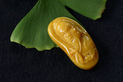 Jade carving pendant Royalty Free Stock Photography