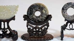 Jade chino antiguo almacen de metraje de vídeo