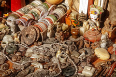 Jade. Close up of Chinese antiques for sale at Dongtai Rd market Shanghai Stock Photo