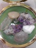Jade Crystal Jar Fotografie Stock Libere da Diritti