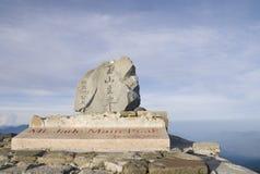 Jade del Mt. - la montaña más alta de Northeast Asia. Foto de archivo