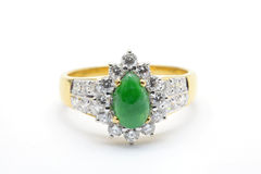 Jade Diamond Wedding Ring Royalty Free Stock Image