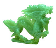 Jade-Drache-Verzierung Stockfotografie