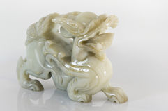 Jade Dragon. Picture of a dragon white jade figurine for 2012 dragon year royalty free stock images