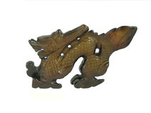 Jade dragon. Decorative sculpture Royalty Free Stock Photo