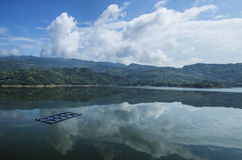 Jade dragon lake in  Cangnan county,zhejiang province. Is a beutiful reservoir Royalty Free Stock Photography