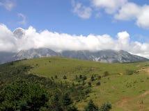 Jade Dragon Snow Mountain. In Lijiang China royalty free stock image