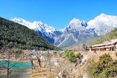 The Jade Dragon Snow Mountain stock photo