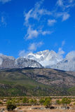 Jade dragon snow mountain Royalty Free Stock Images