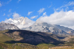 Jade dragon snow mountain Stock Photography