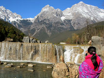 Jade Dragon Snow Mountain Stock Afbeeldingen