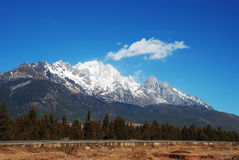 Jade Dragon Snow Mountain Royalty Free Stock Image