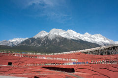 Jade Dragon Snow Mountain stock foto