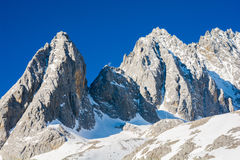 Jade Dragon Snow Mountain Fotos de archivo libres de regalías