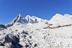 Jade Dragon Snow Mountain in China Stock Images