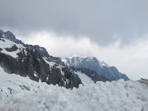 Jade Dragon Snow Mountain. Cof jade dragon snow mountant royalty free stock photos
