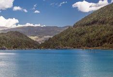 Jade Dragon Snow Mountain. Emerald lake in Lijiang, Yunnan province, China Royalty Free Stock Photo