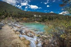 Jade Dragon Snow Mountain. Lake in Lijiang, Yunnan province, China Stock Photography