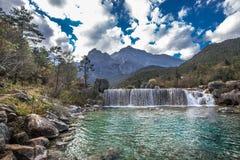 Jade Dragon Snow Mountain. Lake in Lijiang, Yunnan province, China Royalty Free Stock Image