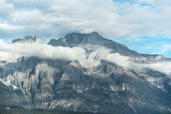Jade Dragon Snow Mountain in Lijiang Stock Foto