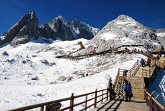 Jade dragon snow mountain, Lijiang China Stock Images