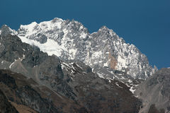 Jade dragon snow mountain, Lijiang, China Royalty Free Stock Images