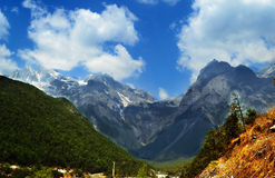 Jade Dragon Snow Mountain, Lijiang, Yunnan Royalty Free Stock Photos