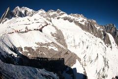 Jade dragon snow mountain,Lijiang,Yunnan,China. Royalty Free Stock Photo