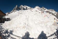 Jade dragon snow mountain,Lijiang,Yunnan,China. Royalty Free Stock Images