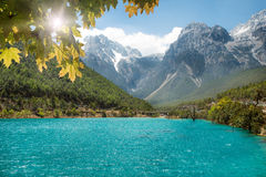 Jade Dragon Snow Mountain, Lijiang, Yunnan, China. Stock Images