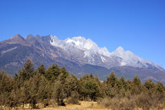 Jade Dragon Snow Mountain, Lijiang, Yunnan province, China Royalty Free Stock Photography