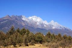 Jade Dragon Snow Mountain, Lijiang, Yunnan province, China Royalty Free Stock Photography